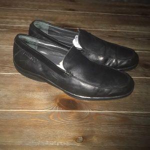 Black Calvin Klein loafers